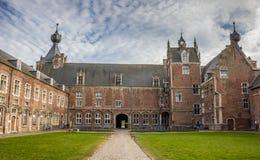 Cortile del castello Arenberg, ora università di Lovanio Immagine Stock