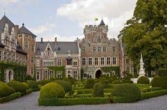 Cortile del castello di Gaasbeek fotografia stock libera da diritti