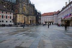 Cortile del castello di Praga Immagine Stock Libera da Diritti