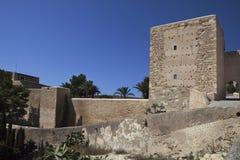Cortile del castello Santa Barbara Fotografia Stock Libera da Diritti