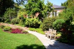 Cortile del giardino alla proprietà, al museo ed ai giardini di Hillwood Fotografie Stock Libere da Diritti
