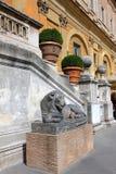 Cortile del museo del Vaticano immagini stock libere da diritti