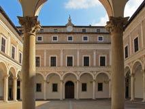 Cortile del palazzo di duca di Urbino Fotografia Stock Libera da Diritti
