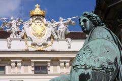 Cortile del palazzo di Hofburg, Vienna, Austria fotografia stock libera da diritti