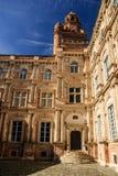 Cortile del palazzo, vecchia città di Tolosa, Francia Immagini Stock Libere da Diritti