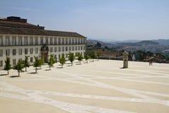 Cortile dell'università di Coimbra Immagine Stock