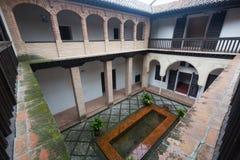 Cortile della casa di Hernan Lopez el Feri Granada, spagna Fotografia Stock