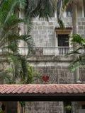 Cortile della chiesa di San Agustine Fotografia Stock Libera da Diritti