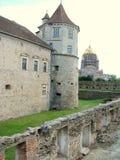 Cortile della fortezza di Fagaras Immagini Stock