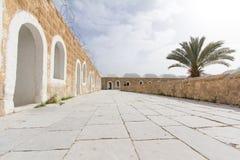 Cortile della moschea di Nabi Musa Fotografia Stock