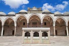 Cortile della moschea di Suleymaniye Fotografia Stock