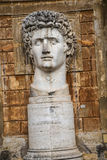 Cortile della Pigna. Head of Constantine in the Gardens of the Vatican Museums in Rome Italy. Rome Italy, the Eternal city, which has been a destination for Stock Images
