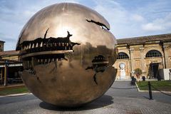 Cortile della Pigna. Sphere within a sphere by Pomodoro 1990 in the Gardens of the Vatican Museums in Rome Italy. Rome Italy, the Eternal city, which has been a Stock Image