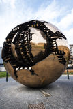 Cortile della Pigna. Sphere within a sphere by Pomodoro 1990 in the Gardens of the Vatican Museums in Rome Italy. Rome Italy, the Eternal city, which has been a Stock Photo
