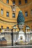 Cortile della Pigna, Vatican Stock Images