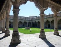 Cortile della scuola nell'università di Salamanca, Spagna Immagini Stock Libere da Diritti