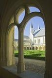 Cortile di Abbaye de Fontevraud fotografia stock libera da diritti