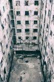 Cortile di costruzione rovinato Nessuna gente Fotografia Stock Libera da Diritti