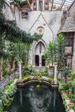 Cortile di Hammond Castle Fotografie Stock