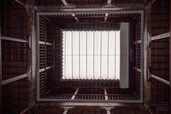 Cortile di legno Fotografia Stock