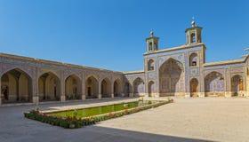 Cortile di Nasir al-Mulk Mosque Fotografie Stock