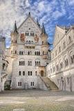 Cortile di Neuschwanstein Fotografia Stock
