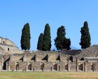 Cortile di Pompei Fotografia Stock Libera da Diritti