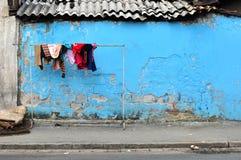Cortile di povertà fotografie stock