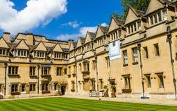 Cortile di vecchio quadrilatero dell'istituto universitario di Brasenose dell'università di Oxford Immagine Stock