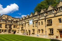 Cortile di vecchio quadrilatero dell'istituto universitario di Brasenose dell'università di Oxford Fotografia Stock