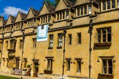 Cortile di vecchio quadrilatero dell'istituto universitario di Brasenose dell'università di Oxford Fotografie Stock