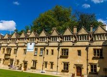 Cortile di vecchio quadrilatero dell'istituto universitario di Brasenose dell'università di Oxford Immagini Stock