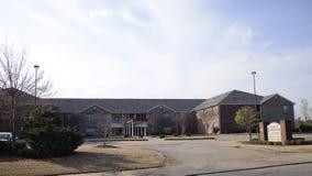 Cortile di Wesley Stage Park Retirement Community, Memphis, TN Immagine Stock