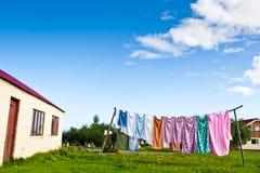 cortile domestico in estate Fotografia Stock Libera da Diritti