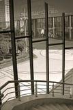 Cortile ed architettura fotografia stock