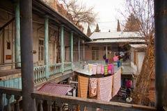 Cortile georgiano tradizionale a Tbilisi, Georgia, 2019 immagini stock libere da diritti