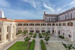 Cortile interno del monastero cattolico Alcobaca Fotografia Stock