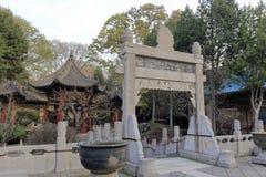 Cortile interno moschea del vicolo del huajue di xian di grande, adobe rgb Immagini Stock