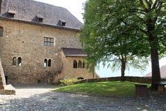 Cortile interno in Tirolo, Tirolo del sud del castello del Tirolo Immagini Stock