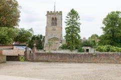 Cortile medievale della chiesa Immagine Stock Libera da Diritti
