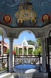 Cortile nella chiesa del primo miracolo, Kefa Immagine Stock