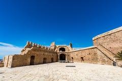 Cortile principale della parte cristiana di Almeria Castle Immagini Stock Libere da Diritti