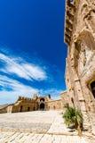 Cortile principale della parte cristiana di Almeria Castle & del x28; Alzacaba di Almeria& x29; Fotografia Stock