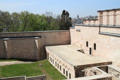 Cortile sul palazzo di Topkapi a Costantinopoli Fotografie Stock
