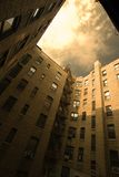 Cortile urbano della costruzione fotografia stock