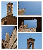 Cortilla del Podesta Sienna collage Royalty Free Stock Photography