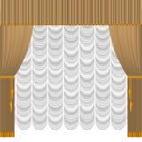 Cortina amarillenta stock de ilustración