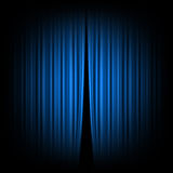 Cortina azul Fotografía de archivo libre de regalías