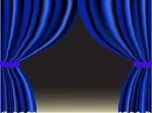 Cortina azul stock de ilustración