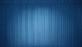 Cortina azul de la etapa Imágenes de archivo libres de regalías